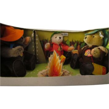 Steiff LE Nimrod Teddy Campfire, Hunting and Fishing Bears
