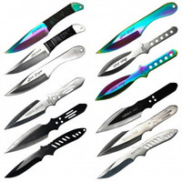 "6.5"" 12pcs set throwing knives mixed"