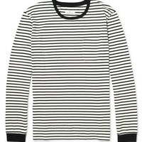 Hentsch Man - Striped Long-Sleeved Cotton-Jersey T-Shirt | MR PORTER