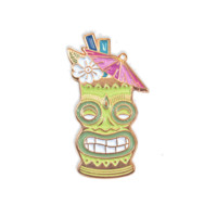 Tiki Time Enamel Pin