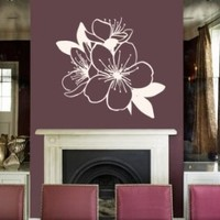 Housewares Vinyl Decal Beautiful Flowers Home Wall Art Decor Removable Stylish Sticker Mural Unique Design for Baby Boy Nursery Room