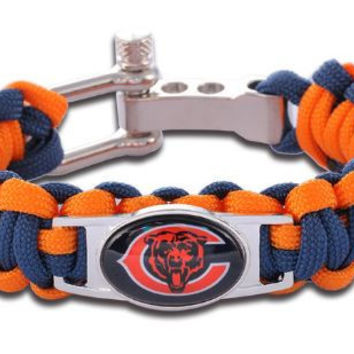 NFL - Chicago Bears Custom Paracord Bracelet