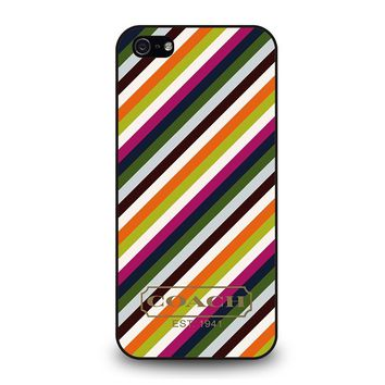 COACH NEW YORK RAINBOW iPhone 5 / 5S / SE Case Cover