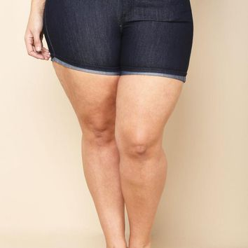 Denim Stretch Plus Size Short
