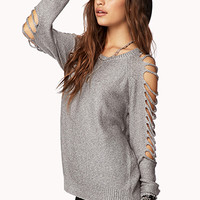 Street-Chic Shredded Sweater