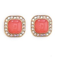 Rhinestone Border Stud Earrings: Charlotte Russe