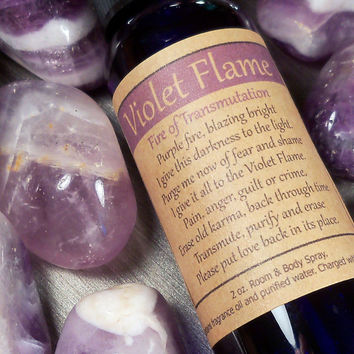 Violet Flame Spray - Erase Old Karma by Sending It To The Violet Flame - Saint Germain