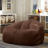 Chocolate Sherpa Cloud Couch