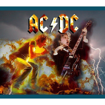 Very Nice Music Mouse Pad AC DC Angus Young