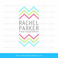OOAK Premade Logo Design - Chevron Photography - Perfect for a baby clothing brand or a party accessories shop