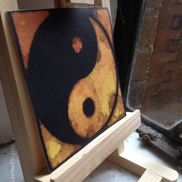 Yin Yang, Manipura Chakra, Solar Plexus Chakra, Buddhist Art, Yoga Art, Abstract Painting MiniCanvas