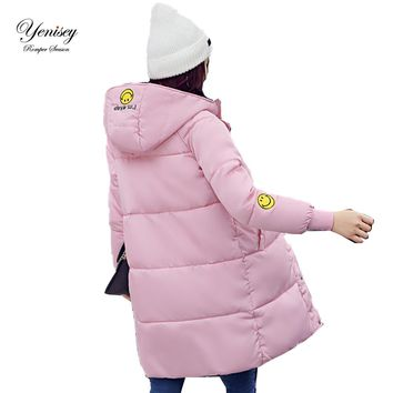 Winter coat 2017 new women's autumn and winter coat  cotton coat Down parka coat  Korean female 8865