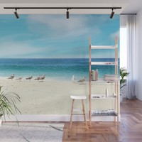 wave watching Wall Mural by sylviacookphotography