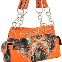 Orange Camo Western Pistol Gun Fashion Purse