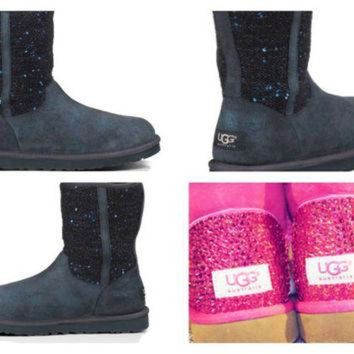 DCCK8X2 Custom UGG Boots made with Swarovski Lyla Free: Shipping, Repair Kit, Cleaning Kit, C