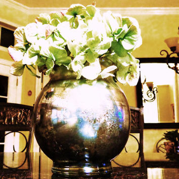 Antique Style Mercury Glass Vase by TheArtOfFinerThings on Etsy