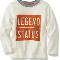 Slub-Knit Graphic Tee for Toddler | Old Navy