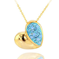 Cherish Past Opal Love Gold-plated Necklace