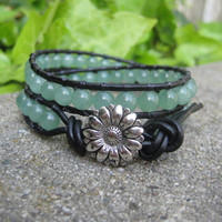 Double Wrap Green Aventurine Bracelet