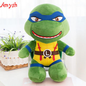 Amysh HOT toys 25cm Creative soft lovely mutant ninja turtles soft plush Appease doll anime cartoon baby kids toy gifts for kids
