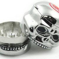 Chrome Skull Herb Grinder with Storage Compartment #8 (1)