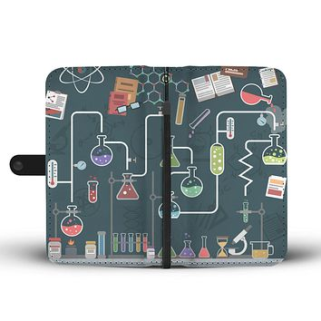 Laboratory Table Wallet Phone Case