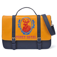 Deer Print Yellow Holdall Bag