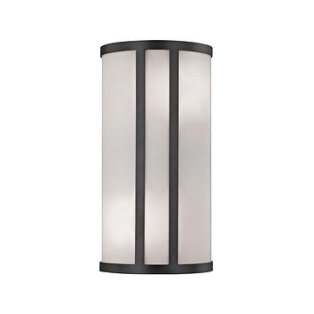 Bella 2 Light Wall Sconce In Oil Rubbed Bronze With White Glass Diffuser