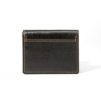 Fossil Bradley Black Execufold Leather Wallet