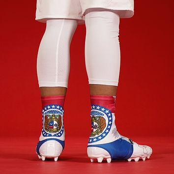 Missouri State Flag Spats / Cleat Covers