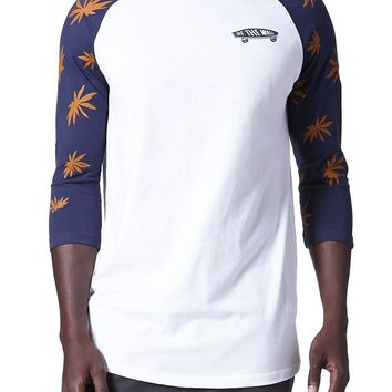Vans Palm Leaf Raglan T-Shirt - Mens Tee - White