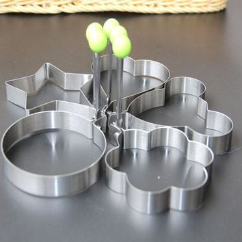 1836 thick stainless steel egg mold fried eggs pancake rings with fried mold the creative tool