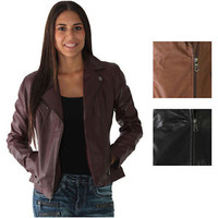 Marc New York By Andrew Marc Brianna Women's Motorcycle Jacket Size XS