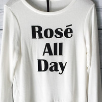 Rose All Day Sweatshirt in White