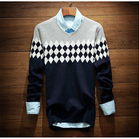 Men's Comfortable Boho Warm Knit Sweater Slim Fit