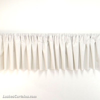 Quality 1pc Custom Made White Valance Modern Home Decorative Rod Pocket Top Curtain Topper Flocking Velvet Window Treatment Wide Panel Drape
