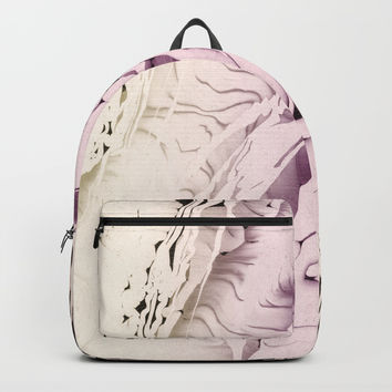 PASTEL MARBLED LIQUID Backpacks by Pia Schneider