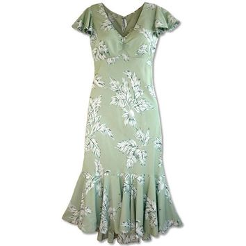 ulu green hawaiian pauahi dress