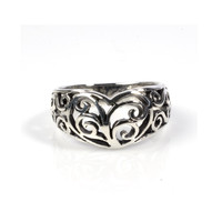925 Sterling Silver Abstract Filigree Fashion Ring