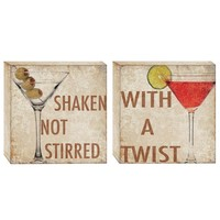 Happy Hour Canvas Wall Art (Set of 2) (1075) - Illuminada