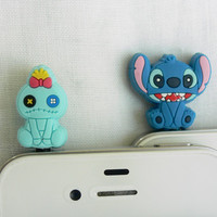 Set of 2 - Disney Stitch and Scrump 2 for 1 price - Cell Phone Anti Dust Plugs, Cell Phone Accessories