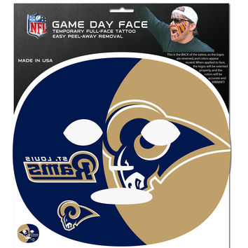 St. Louis Rams Game Face Temporary Tattoo