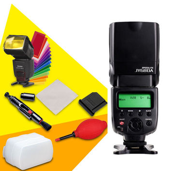 VILTROX JY-680A Universal Flash Speedlight Flashgun for Canon Nikon Pentax Olympus Cameras+ Rubber Cleaner + Lens Pen +Diffuser