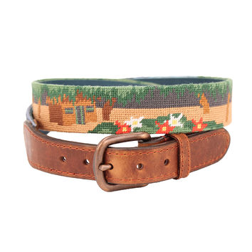 Three Hour Tour Needlepoint Belt by Parlour