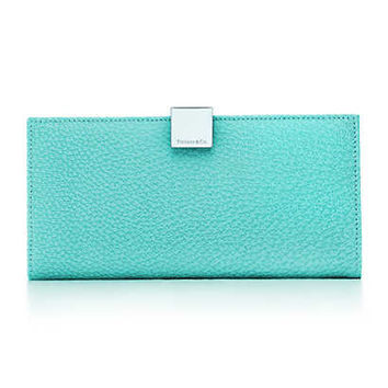 Tiffany & Co. - Continental wallet in Tiffany Blue® textured leather. More colors available.