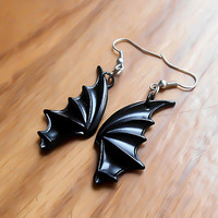Dragon Earrings, Bat Earrings, Wing Earrings, Dragon Wing, Bat Wing, Halloween Earrings, Costume Earrings, Cosplay Earrings, Costume Jewelry