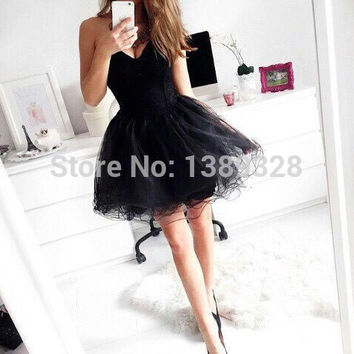 8th Grade Graduation Dresses Sexy Plus Size Club Mini Tiered Ruffles Tulle Ball Gown Sweetheart Short Homecoming Dresses 2015