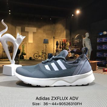 ADIDAS ZX FLUX ADV Gray  White  Sports Running Shoes Sneaker - BB2288