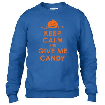 Gladditudes Keep Calm and Give Me Candy Crewneck sweatshirt