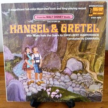 "Vintage 1969 LP Vinyl Record ""The Story of Hansel & Gretel"" / Disneyland Record / Music from the Opera by Engelbert Humperdinck / Disney"